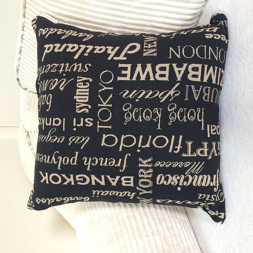 "Square ""Cities"" Cushion"