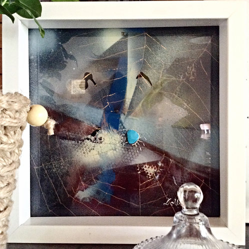"""Ocean"" Glass Painting"