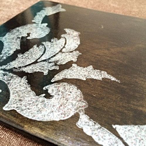 Stencilled Breakfast Coaster