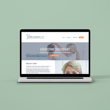 spine & scoliosis clinic website
