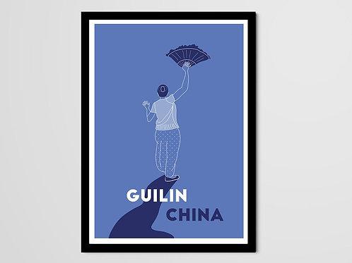 Ménade, Guilin, danseuse chinoise, femme, bleu, Manon Sénal, Boutique Les créateurs de saison, Paris