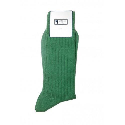 Chaussette, fil d'Ecosse, coton, vert, Aquila, Boutique Les créateurs de saison, Paris
