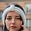 Bandeau, mohair et soie, blanc, tricoté main, De maille en fille, Boutique Les créateurs de saison, Paris