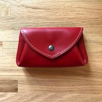 Porte monnaie origami, rouge, vachette, pleine fleur, L'Atelier l'Antre Peaux, Boutique Les créateurs de saison, Paris