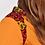 Chemisier, wax, coton, safran, orange, rouge, wax, Maison Mixmelô, Boutique Les créateurs de saison, Paris