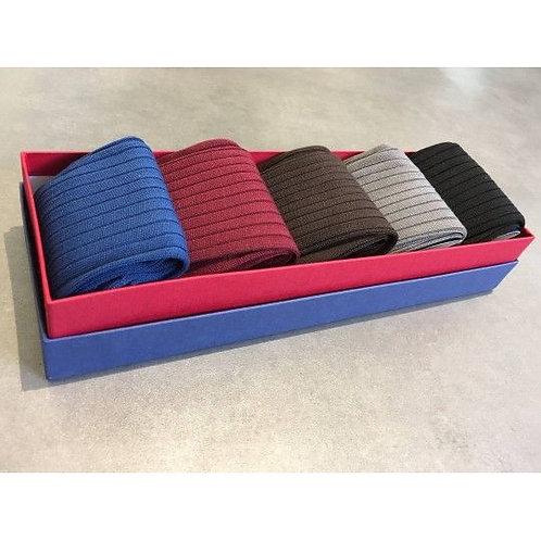Semainier 5 chaussettes, fil d'Ecosse, coton, Aquila, Boutique Les créateurs de saison, Paris