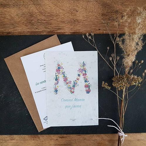 Iza Lan Atelier, Carte postale, carte à planter, futur papi et mamie,fleurs, graines, Boutique Les créateurs de saison, Paris