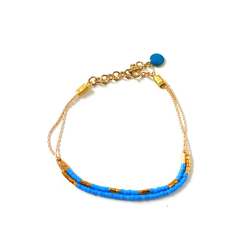 Bracelet, collection Colorine, blue (EN)
