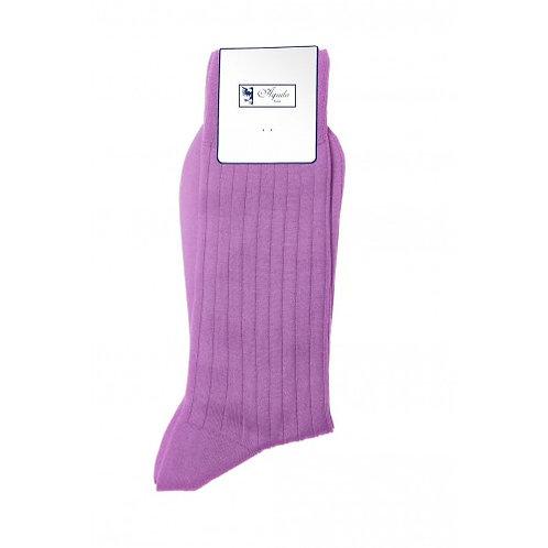 Chaussette, fil d'Ecosse, coton, violet clair, Aquila, Boutique Les créateurs de saison, Paris