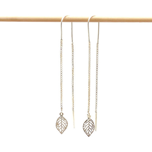 Jewelry, Earrings, 925 silver, leaf, E-shop, The Right to Be Happy, Paris