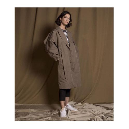 Manteau trench-coat, kaki, Imperméable, Géno, Boutique Les créateurs de saison, Paris