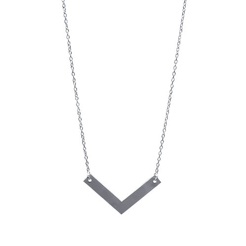 Necklace, silver chain, silver plated pendant, angle, E-shop  by Le Droit à la Belle Vie (The Right to Be Happy), Paris