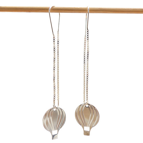 Jewelry, Earrings, 925 silver, hot-air ballon, E-shop, The Right to Be Happy, Paris