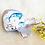 Doudou baleine motif mer, coton bio, bleu, baleine, pieuvre, Une touche de magie, Boutique Les créateurs de saison, Paris