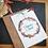Iza Lan Atelier, Carte postale, carte à planter, Joyeux noël, fleurs, graines, Boutique Les créateurs de saison, Paris