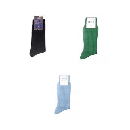 Lot de 3 chaussettes, fil d'Ecosse, coton, Aquila, Boutique Les créateurs de saison, Paris