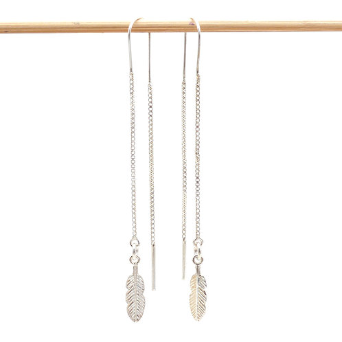 Jewelry, Earrings, 925 silver, Feather, Bird, E-shop, The Right to Be Happy, Paris