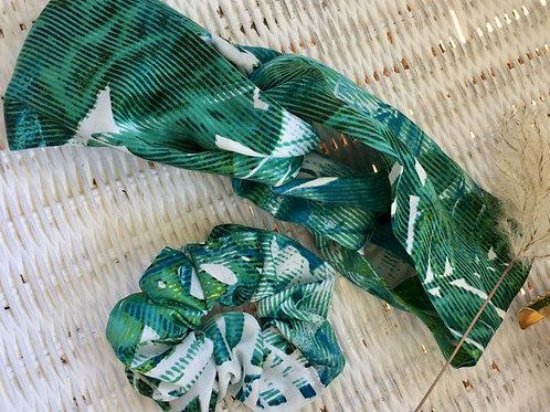 Bandeau adulte, soie, vert, Maison Mixmelô, Boutique Les créateurs de saison, Paris