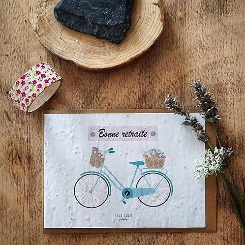 Iza Lan Atelier, Carte postale, carte à planter, Retraite, fleurs, graines, Boutique Les créateurs de saison, Paris