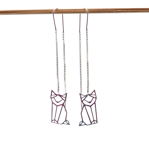 Jewelry, Earrings, 925 silver, Cat, E-shop, The Right to Be Happy, Paris