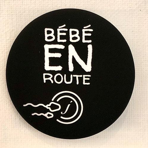 Les Janin's, Badge, Bébé en route, noir, Boutique Les créateurs de saison, Paris