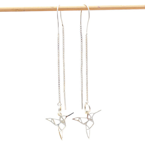 Jewelry, Earrings, 925 silver, Hummingbird, Bird, E-shop, The Right to Be Happy, Paris