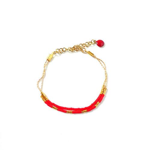 Bracelet, collection Colorine, red (EN)