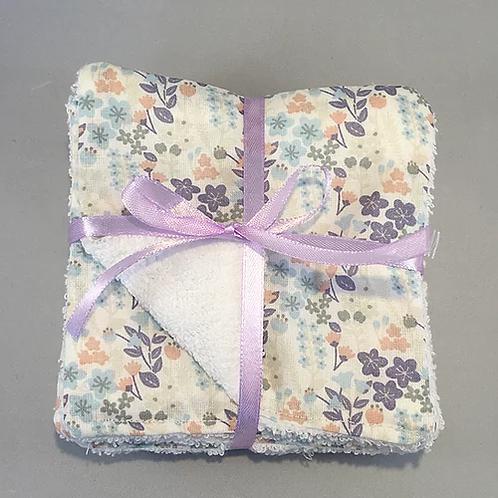 Lingette motif fleur bleue, coton bio, Une touche de magie, Boutique Les créateurs de saison, Paris