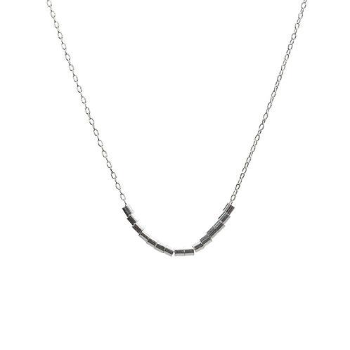 Necklace, silver chain, silver pearl, E-shop  by Le Droit à la Belle Vie (The Right to Be Happy), Paris