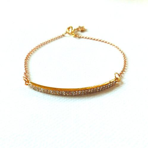 Bijou, Bracelet, chaîne plaqué or, strass, Boutique Le Droit à la Belle Vie, Paris