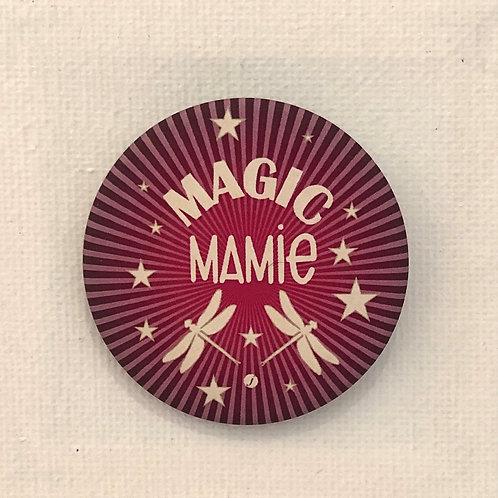 Les Janin's, Badge, Magic Mamie, rose, blanc Boutique Les créateurs de saison, Paris