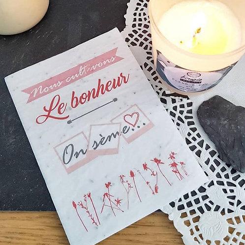 Iza Lan Atelier, Carte postale, carte à planter, Bonheur, fleurs, graines, Boutique Les créateurs de saison, Paris