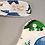 Bavoir motif dinosaure, coton bio, vert, blanc, bleu, Une touche de magie, Boutique Les créateurs de saison, Paris