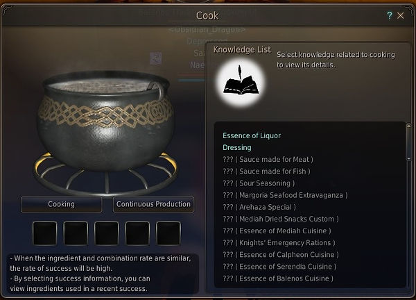 The Cooking Screen in bdo, beer is made from this screen.