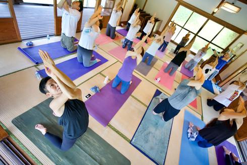 Breathing mayu yoga@清澄白河庭園