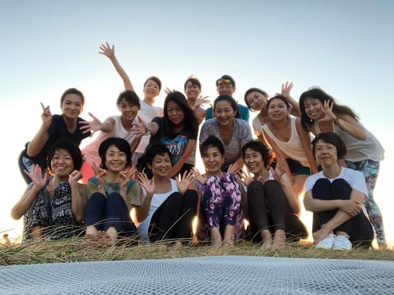 Beach mayu yoga@葉山一色