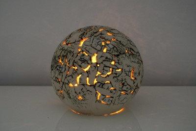 Lichtbol gebroken aarde