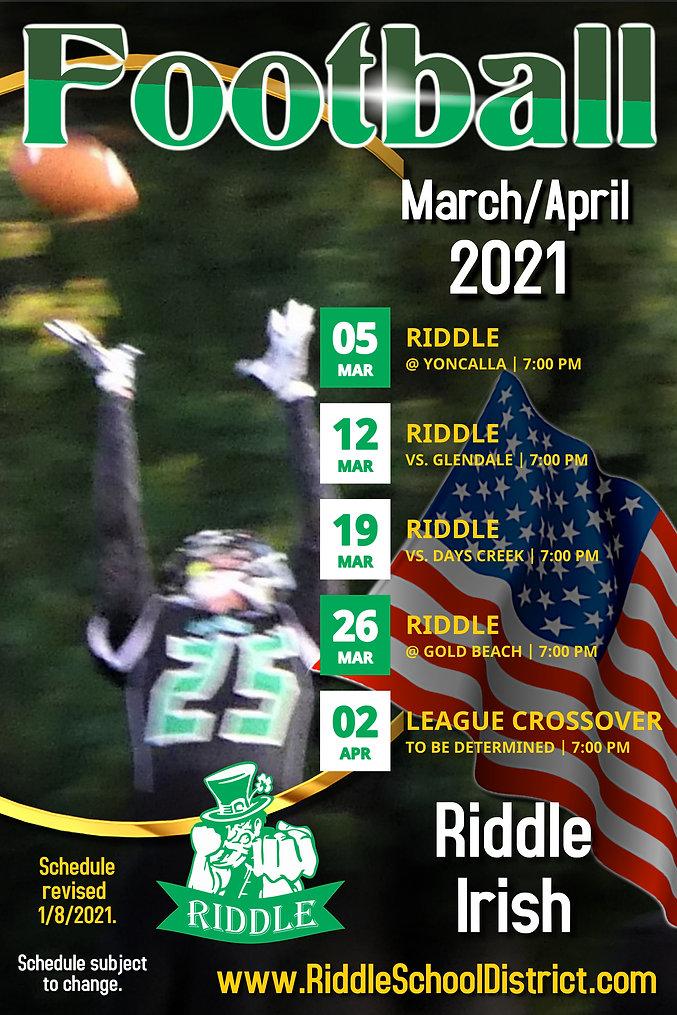 Riddle 2021 Football Team Schedule Jan 1