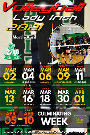 RIDDLE HS Volleyball Schedule 2021 Updat