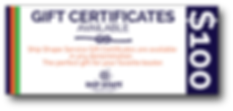 Ship Shape Service Gift Certificate
