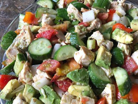 Cucumber Avocado & Chicken Salad