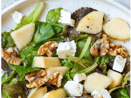 Goat Cheese, Pear & Walnut Salad