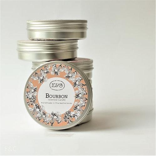 BOURBON - Travel Tin Candle