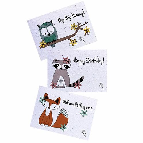 Plantable Postcard - Animal - WildFlowerMix