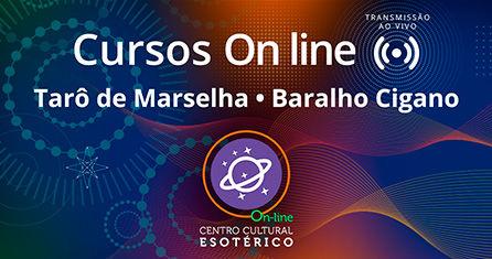 Cursos on line, Baralho Cigano e Tarô de Marselha