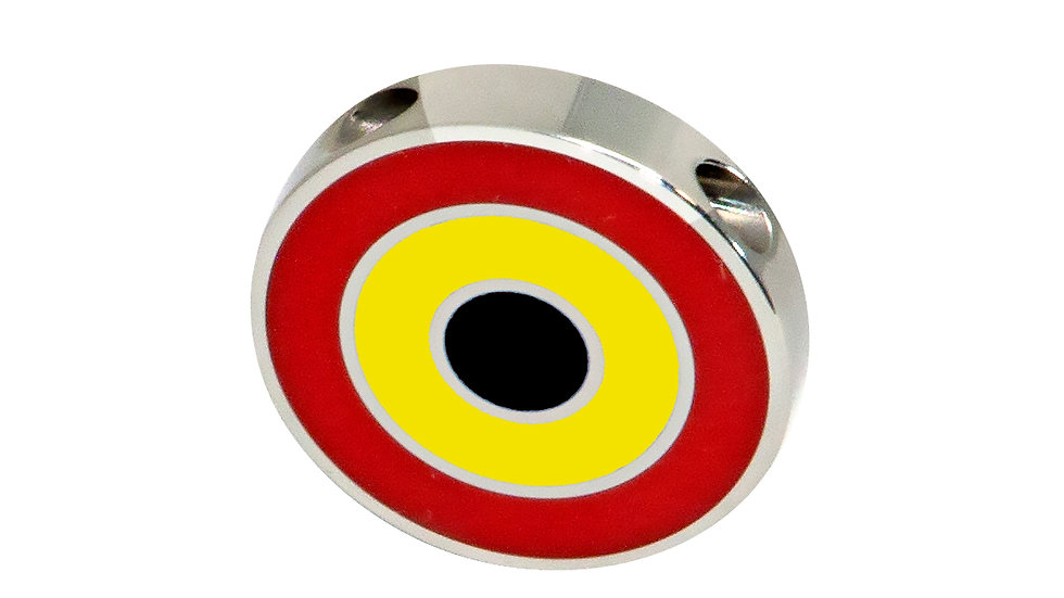 316L Stainless Steel Roundel Necklace with Belgium colors