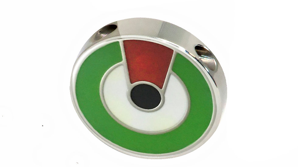 316L Stainless Steel Roundel Necklace with UAE colors