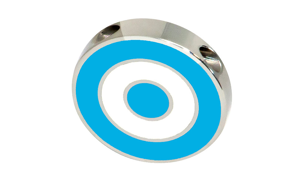 316L Stainless Steel Roundel Necklace with Argentina colors