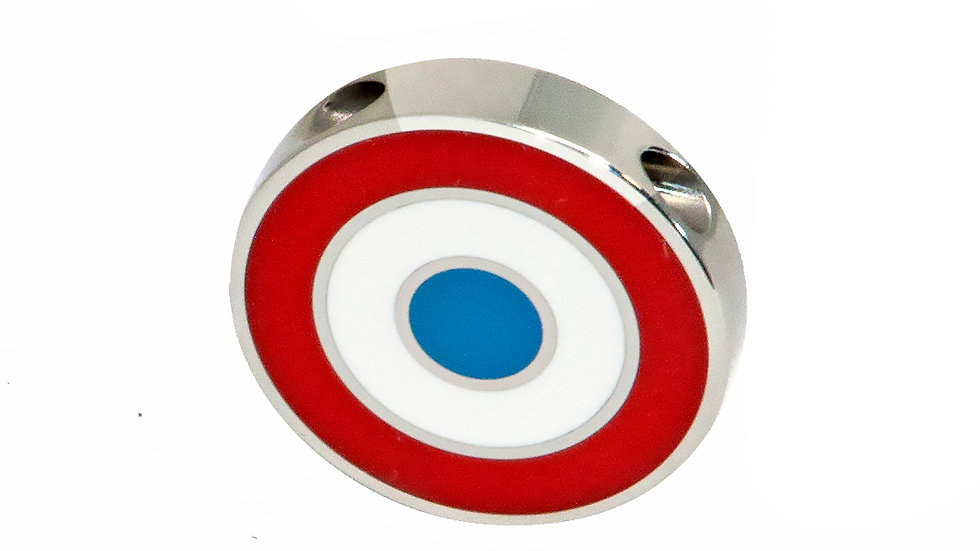 316L Stainless Steel Roundel Necklace with France colors