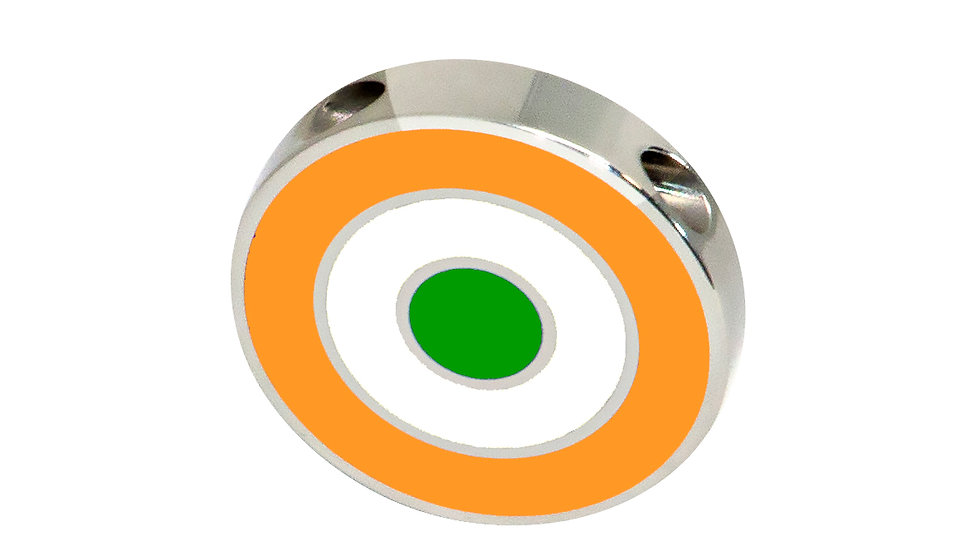 316L Stainless Steel Roundel Necklace with India colors